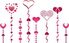 Бордюр сердечками (трафарет для покраски)