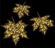 Хохломской клен 2 (трафарет для декора)