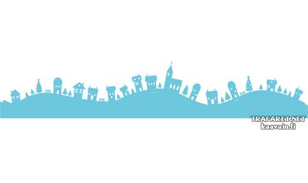 Провинциальный городок 2 (художественный трафарет)