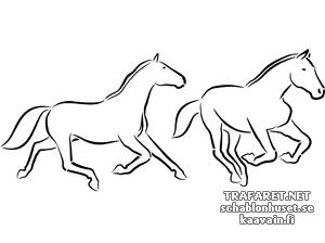 Трафарет Две лошади 2а