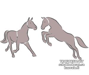 Трафарет Две лошади 3в