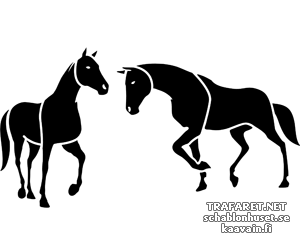 Трафарет Две лошади 4б