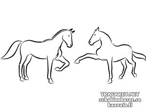 Трафарет Две лошади 5а