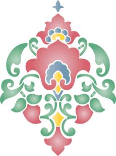Индийский узор 04 (трафарет для декора)