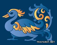 Индийская утка (трафарет для декора)