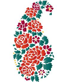 Цветочный огурец (трафарет для росписи)