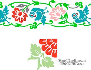 Птичий бордюр (трафарет для покраски)