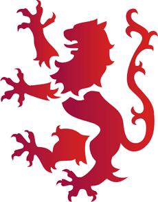 Геральдический лев (трафарет для декора)