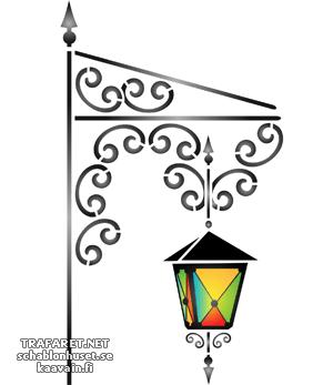 Трафарет Цветной фонарь 08