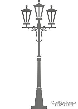 Трафарет Большой фонарь 013