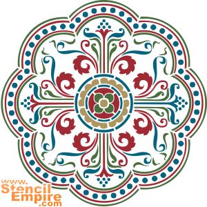 Средневековый медальон 1 (художественный трафарет)