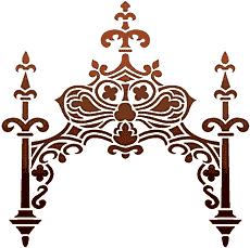 Кованная арка (трафарет для росписи)