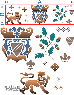 Средневековый набор (трафарет для рисования)