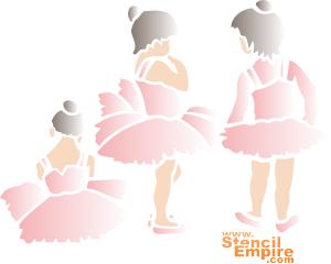 Танцовщицы (трафарет для рисования)