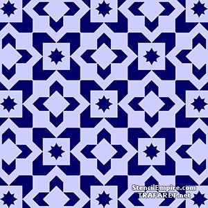 Трафарет обоев Марокканская мозаика 06