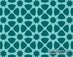 Трафарет обоев Марокканская мозаика 07