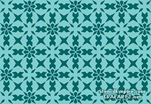 Трафарет обоев Марокканская мозаика 09