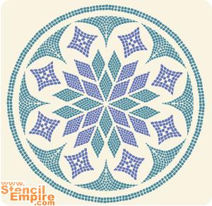 Звездный круг (трафарет для росписи)