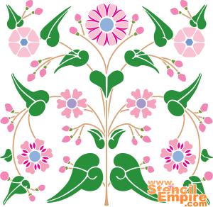 Цветочный узор (трафарет для декора)