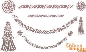 Шнуры и кисти (трафарет для рисования)