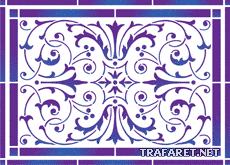 Классическая плитка 59 (трафарет для росписи)