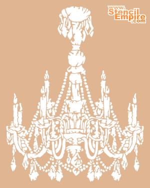 Канделябр (трафарет для росписи)