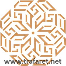 Медальон арабеска (художественный трафарет)