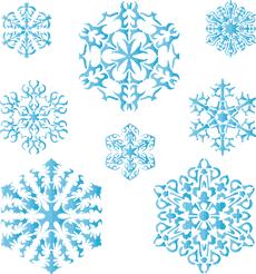 Восемь снежинок IV (трафарет для покраски)