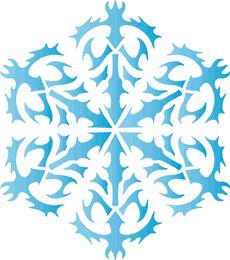 Снежинка XIII (трафарет для росписи)