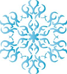 Снежинка XIV (трафарет для декора)