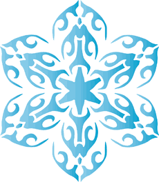 Снежинка XV (трафарет для покраски)