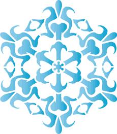 Снежинка XII (художественный трафарет)