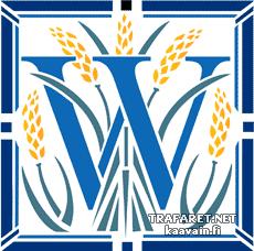 Буквица W (трафарет для росписи)