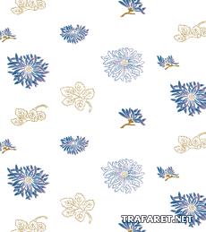 Японские цветочные обои (трафарет для декора)