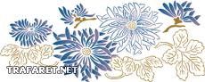 Японский цветочный мотив (трафарет для покраски)