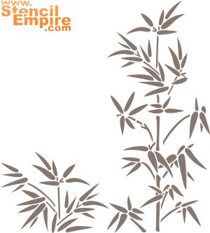Бамбук (трафарет для рисования)