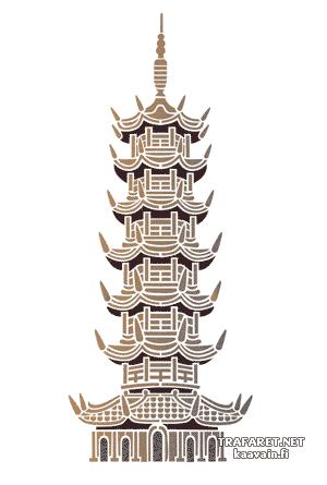 Большая пагода (художественный трафарет)