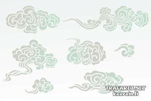 Трафареты Семь китайских туч