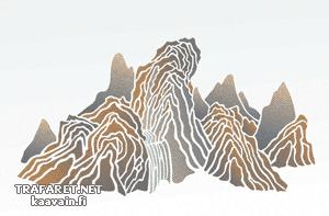 Трафарет Китайские горы