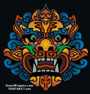Трафарет Китайская маска