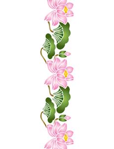 Восточные лилии (трафарет для росписи)