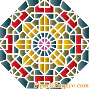 Восточная мозаика (трафарет для покраски)