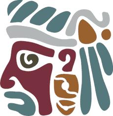 Маска Майя (трафарет для рисования)