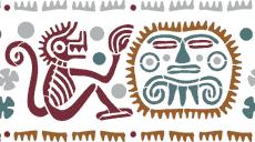 Обезьяны и маски (трафарет для росписи)