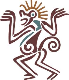 Танцующая обезьяна (трафарет для покраски)
