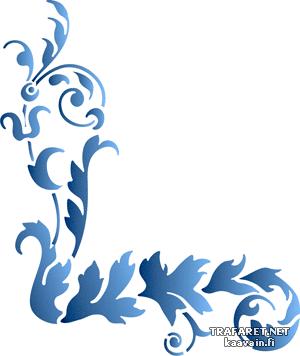 Угол ренессанс 49 (трафарет для росписи)