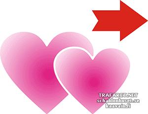Трафарет Свадебные сердца 05