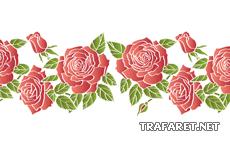 Алые розы 3 (художественный трафарет)