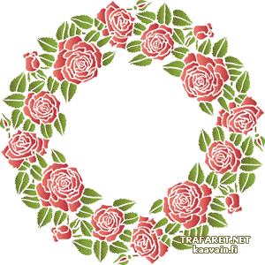 Розовый круг 13 (трафарет для рисования)