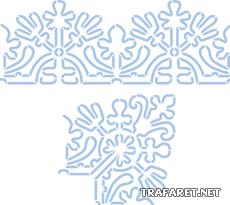 Витой бордюр и угол (трафарет для росписи)